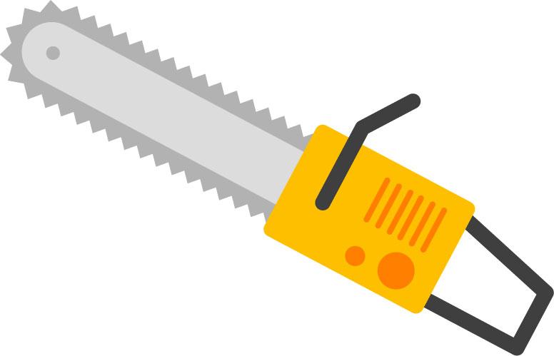 伐採にともなう危険1:道具の不慣れ